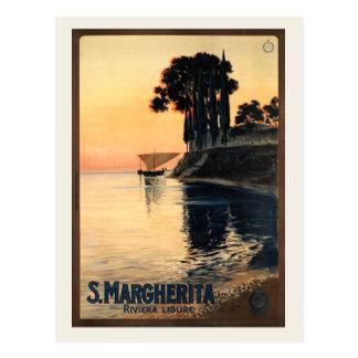 Vintage Santa Margherita Travel Advertisement Postcard