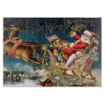Vintage Santa Merry Christmas Cutting Boards