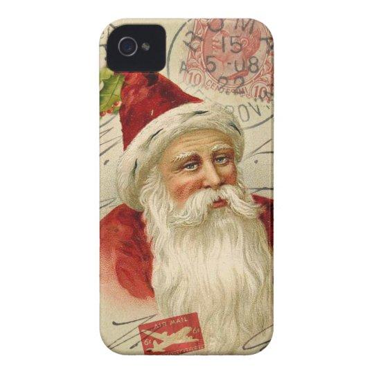 Vintage Santa Mixed Media iphone 4 Case