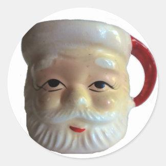 Vintage Santa Mug Stickers
