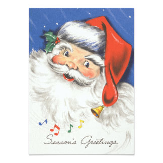 Vintage Santa Music Christmas Party Invitation