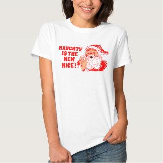Vintage Santa , Naughty Is The New Nice Tee Shirt