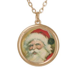 Vintage Santa Necklace