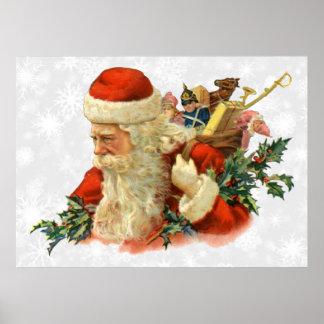 vintage santa or st nick poster