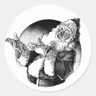 vintage santa etiqueta redonda