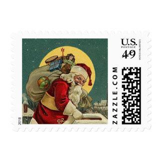 Vintage Santa - pequeños sellos
