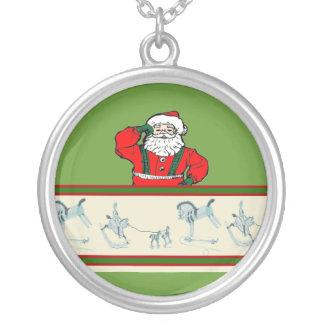 Vintage Santa Personalized Necklace