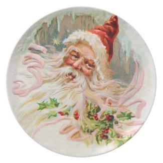 Vintage Santa Plate