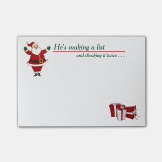 Vintage Santa Post-it Notes