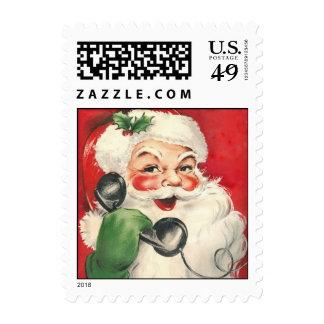 Vintage Santa Postage Stamps