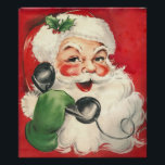 """Vintage Santa Poster<br><div class=""""desc"""">Ready to frame and hang for the Holidays Or hang it as is</div>"""