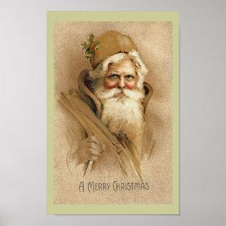 Vintage Santa - poster del navidad