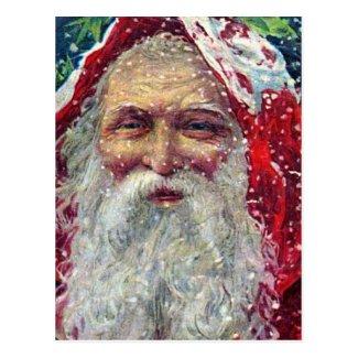 Vintage Santa Print Postcards