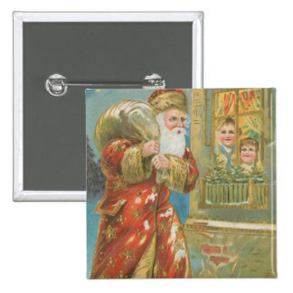 Vintage Santa que trae los regalos Pin