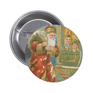 Vintage Santa que trae los regalos Pins