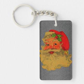 Vintage Santa Rectangular Acrylic Key Chains