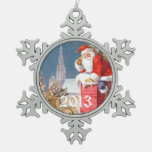 Vintage Santa Reindeer Chimney Ornament
