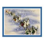 Vintage Santa & Reindeer Postcards
