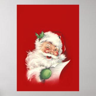 Vintage Santa Reworked! Poster