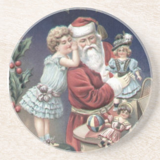 Vintage Santa Sandstone Coaster
