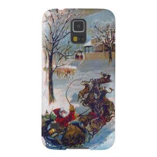 Vintage Santa Sleigh Christmas Case For Galaxy S5