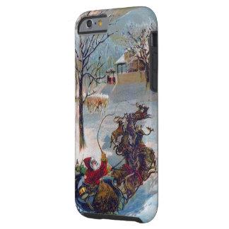 Vintage Santa Sleigh Christmas Tough iPhone 6 Case