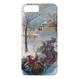 Vintage Santa Sleigh Christmas iPhone 7 Plus Case