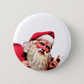 Vintage Santa Smoking Cigarette Button