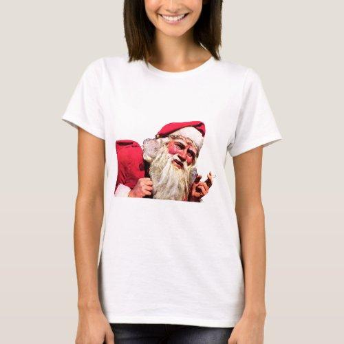 Vintage Santa Smoking Cigarette T-Shirt After Christmas Sales 4767