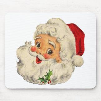 vintage Santa snow Christmas winter holiday Mouse Pad