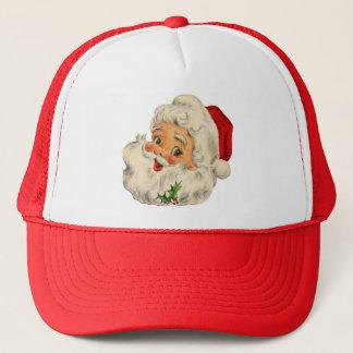 vintage Santa snow Christmas winter holiday Trucker Hat