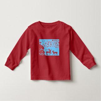 vintage Santa snowman Christmas winter holiday art Toddler T-shirt