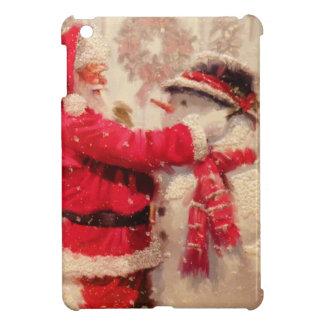 Vintage Santa Snowman Scene iPad Mini Covers