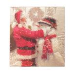 Vintage Santa Snowman Scene Memo Pads