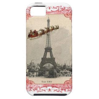 Vintage Santa sobre la caja del teléfono del navid iPhone 5 Case-Mate Funda