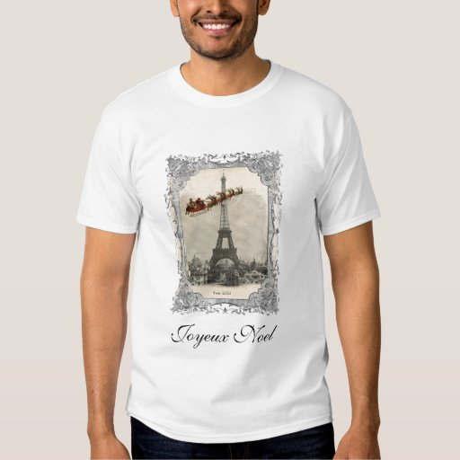 Vintage Santa sobre la camiseta del navidad de Playera