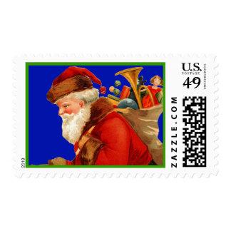 Vintage Santa Stamp