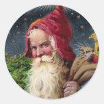 Vintage Santa Stickers