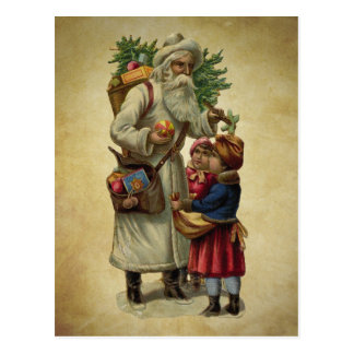 vintage santa postal