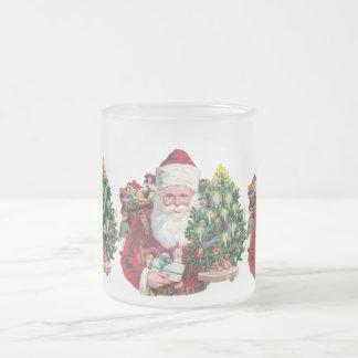 Vintage Santa Taza De Cristal
