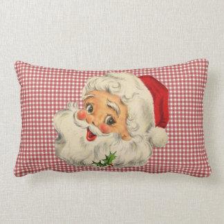vintage santa throw pillow