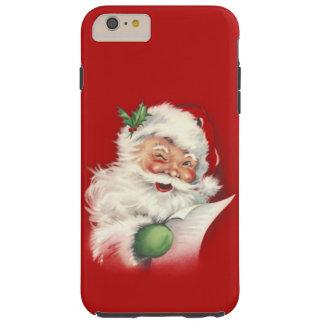 ¡Vintage Santa vuelto a trabajar! Funda De iPhone 6 Plus Tough
