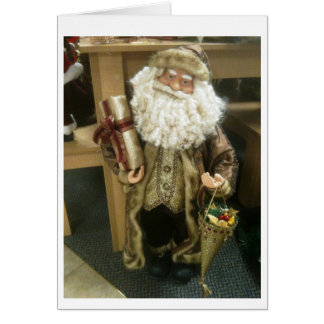 VINTAGE SANTA WISHES HAPPY HOLIDAY/PERFECT YEAR CARD