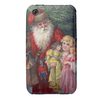 Vintage Santa with Angel and Toys iPhone 3 Cases