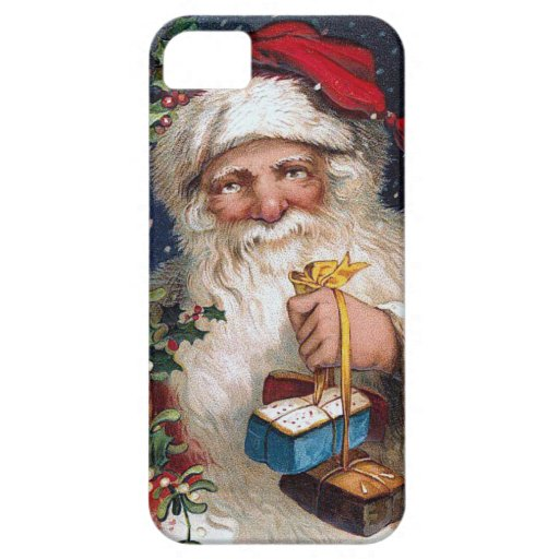 Vintage Santa with Cakes iPhone 5 Covers
