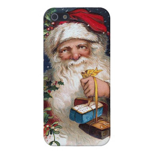 Vintage Santa with Cakes Cover For iPhone 5/5S