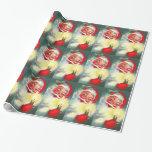 Vintage Santa with Candle Wrapping Paper