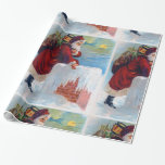 Vintage Santa with Chimney Gift Wrapping Paper