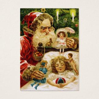 Vintage Santa with Dolls Business Card