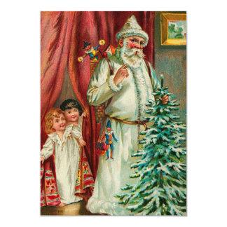 Vintage Santa With Kids Card